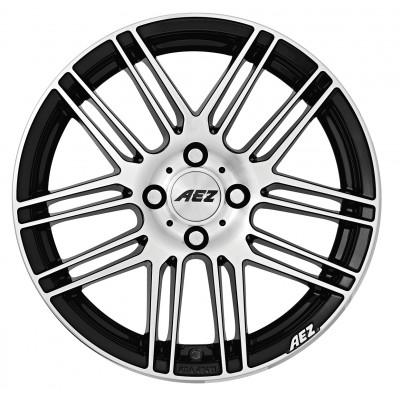 AEZ Cliff black polished 7x16 ET48 - LK5/108 ML70.1 4026569120634