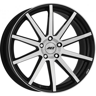 AEZ Straight black polished 9.5x20 ET28 - LK5/112 ML70 4026569122683