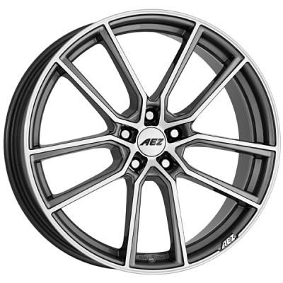 AEZ Raise gunmetal polished 8x19 ET45 - LK5/108 ML70.1 4026569124502