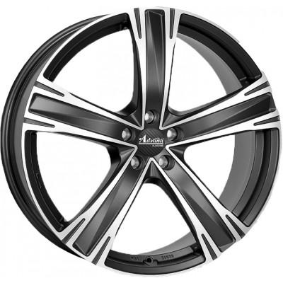 Advanti Raci Raccoon matt black / polished 8x18 ET45 - LK5/114. 4250390921355